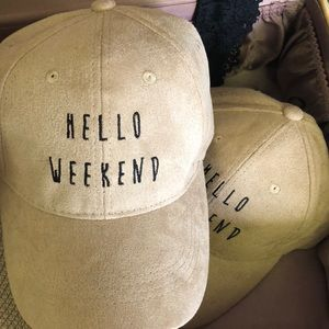 Brand new embroidered suede hats